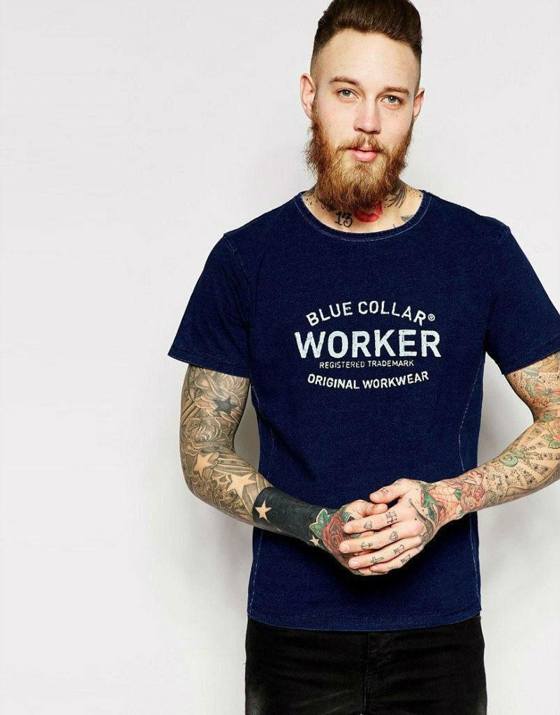 Мужская футболка с принтом WORKER