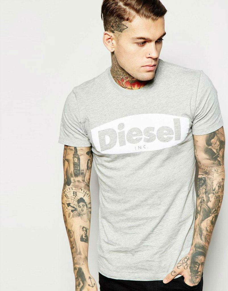 Стильная футболка с принтом Diesel