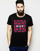 Мужская спортивная футболка с принтом HUF