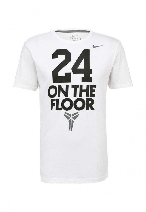 Модная мужская футболка с принтом белая  ON THE FLOOR