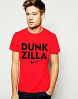 Стильная футболка с принтом красная