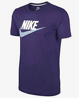 Модная спортивная футболка найк синяя ,Nike
