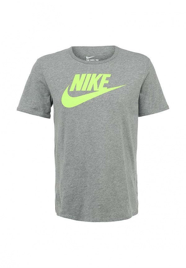 Мужская спортивная футболка найк серая ,Nike