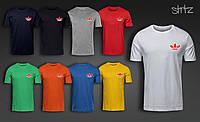 Мужская футболка с принтом адидас, футболка Adidas