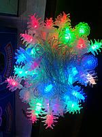 """Новогодняя гирлянада для елки 5 м, гирлянда """"Шишечки"""""""