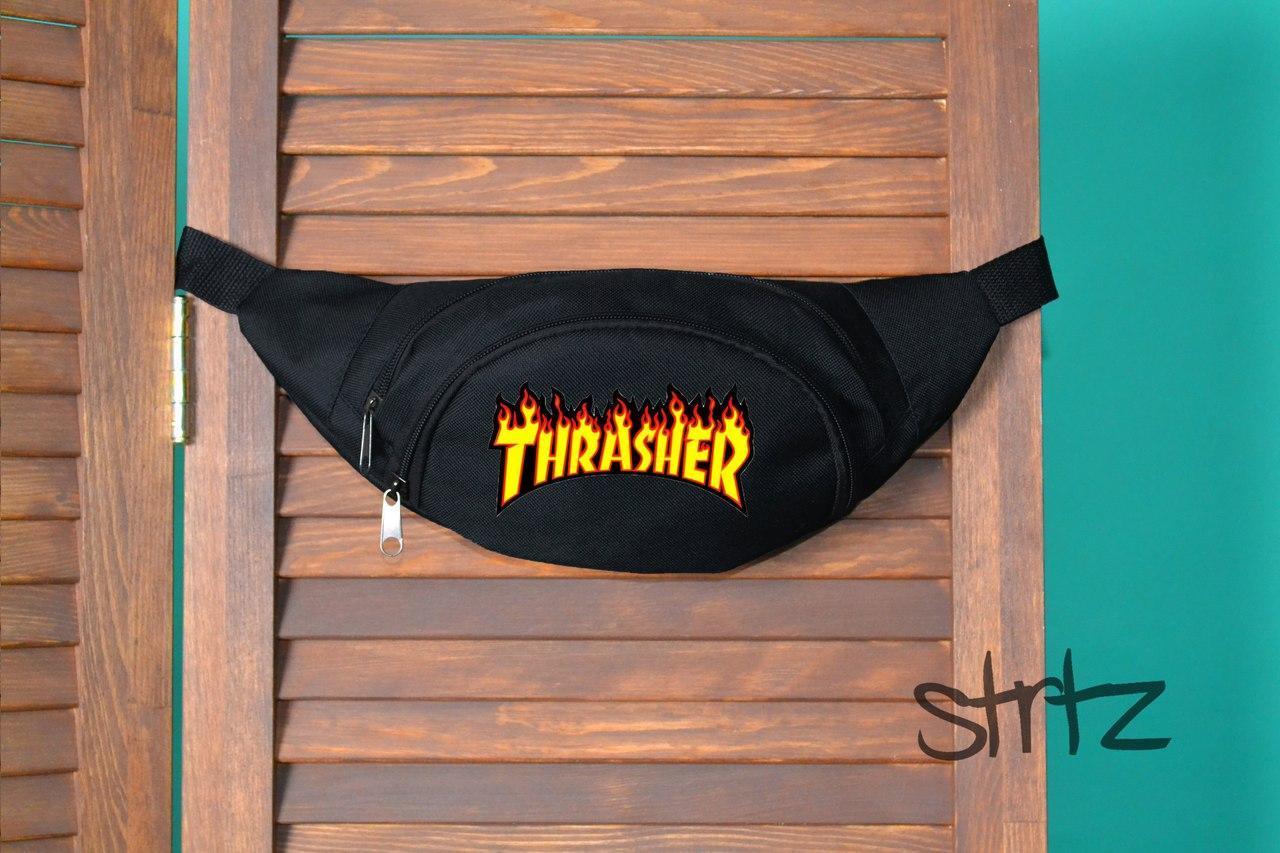 Молодежная поясная сумка трешер,бананка Thrasher