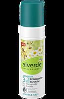 Alverde очищающая пенка для чувствительной кожи 3в1 Reinigungsschaum Sensitiv 3in1, 150 ml