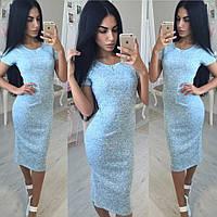 Платье Ткань- турецкая Двунитка  Размеры С М