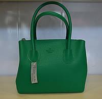 Женская сумка эко-кожа среднего размера зеленая