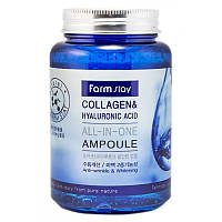 Ампульная сыворотка с коллагеном и гиалуроновой кислотой FarmStay Collagen & Hyaluronic Acid All-In-On, 250мл, фото 1