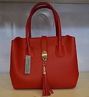 Женская сумочка  красная эко-кожа