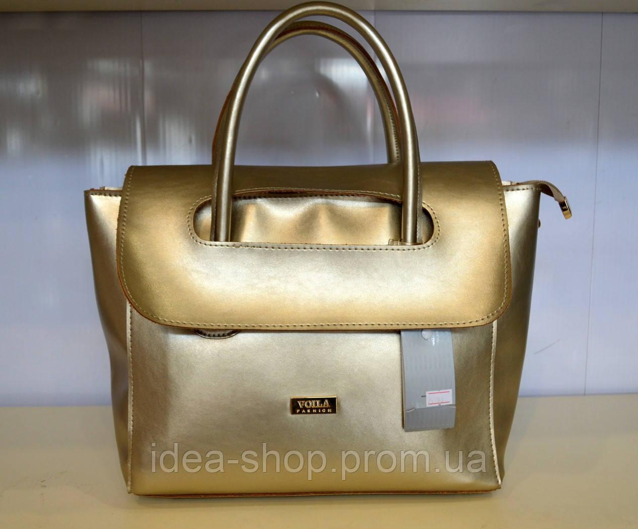 f00749dec65c Женская сумка эко-кожа золотая Wallaby - интернет-магазин