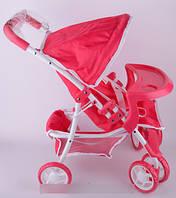 Baby Tilly Коляска для куклы серия Маша и Медведь цвет розовый с белым