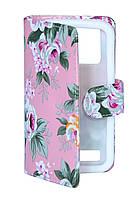Чехол-книжка Florence универсальная 4' 1S Pink flowers
