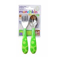 Набор ложка и вилка зеленый Munchkin 011404.03