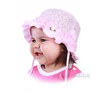 Панамка летняя для девочки Элли Бабасик розовая 44