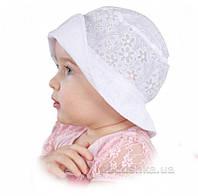 Панамка летняя для девочки Кетти-2 Бабасик белая 52