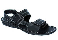 40 р Прошитые сандалии мужские босоножки черного цвета (БС-04ч)