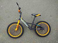 Детский двухколесный беговел Balance bike Crosser  14 дюймов оранжевый