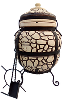 Тандыр из шамотной глины № 5 (дизайн булыжник)
