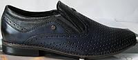 VR туфли мужские перфорация  кожа каблук летняя обувь ботинки мокасины