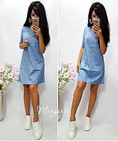 Платье Ткань-джинс