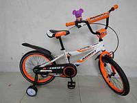 """Детский двухколесный велосипед """"Azimut Fiber""""  Азимут Файбер 18 дюймов"""