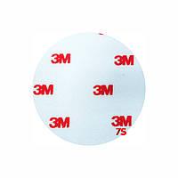 Фетровый полировальный круг 76 мм жесткий, красный логотип