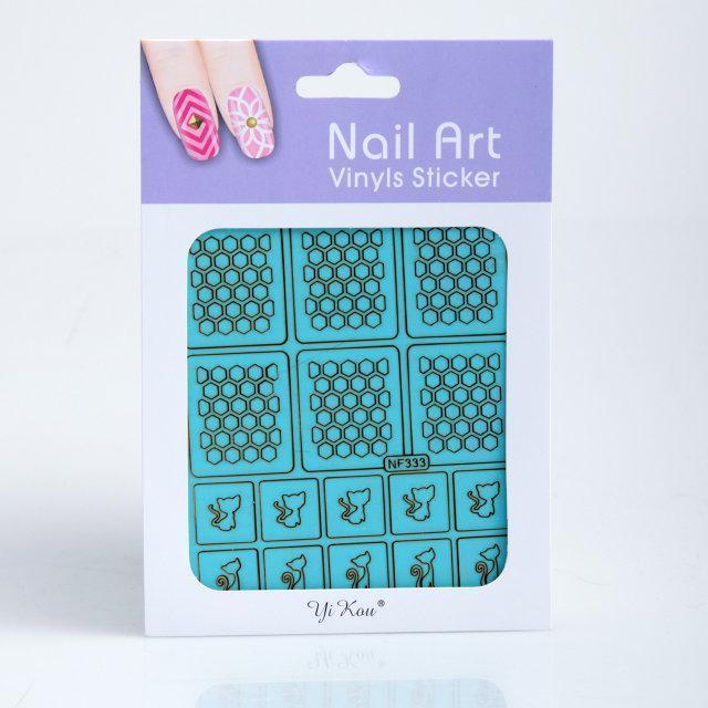 Трафарет для дизайна ногтей, в ассортименте