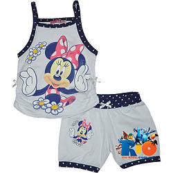 "Летний костюм для прогулок ""Minnie In The Summer"" , трикотаж , для девочки от 3-9 лет (5 ед. в уп.)"