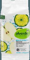 Alverde очищающие салфетки с фруктовыми кислотами Beauty&Fruity Feuchte Reinigungstücher Bio-Limette Bio-Apfel