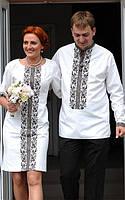 Заготовки для вишивки (чоловіча сорочка+жіноче плаття), фото 1