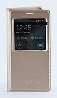 Чехол Samsung Flip Wallet Galaxy E5 Gold