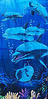 Пляжное полотенце Стая дельфинов