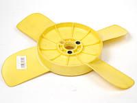 Крыльчатка вентилятора охлаждения радиатора Москвич 2140,412 4-х лопастная желтая