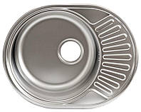 Врезная кухонная мойка Platinum 5745 сатин 0,6 мм глубина 16 см