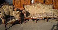 Итальянская мебель для загородного дома в стиле барокко, б/у, 3+1+2