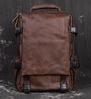 Рюкзак кожаный Tiding Bag X5103C коричневый