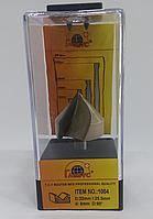 Пазовая V-образная фреза Globus 1004 D32 H25.5 d8 (90 градусов)