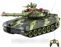 Детский боевой танк 9993 на радиоуправлении (зеленый)