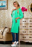 Стильный женский трикотажный кардиган (летняя сетка трикотаж, вышивка, рукава 3/4, прямой крой) РАЗНЫЕ ЦВЕТА!