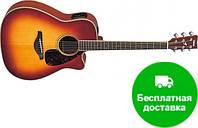 Электро-акустическая гитара Yamaha FGX720 SCA (BS)