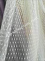 Тюль белая сетка на фатине