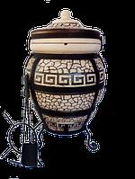 Тандыр из шамотной глины № 6 (дизайн греческий)
