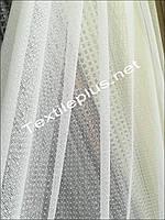 Тюль белая мелкая сетка