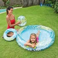 Надувной бассейн с игровым набором