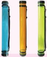 Тубус для паперу, пластик, прозорий (оранжевий), (65см, d:8.3см), (11319) D.K.ART & СRAFT