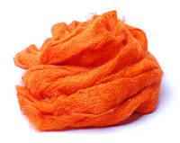 Вовна для валяння кардочесана, С05А, Оранжева, 50 г, Margo