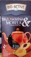 Чёрный листовой чай Big-Active Brzoskwinia Morela