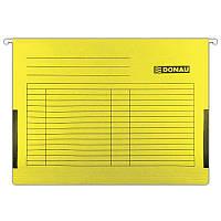 Підвісний файл А4 картонний 7410905 Donau жовтий